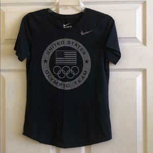 Nike Women's S Navy USA Olympic Team Tee